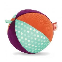B.Toys - Pluszowa piłka sensoryczna z dzwonkiem - BX1566