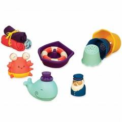 B.Toys - Zestaw do kąpieli dla niemowląt Wee B.Splashy - BX1568