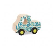 B.Toys - Drewniane autko we wzorki - niebieskie BX1582
