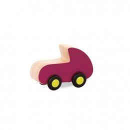B.Toys - Drewniane autko różowe - BX1585