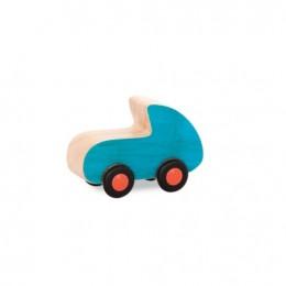 B.Toys - Drewniane autko niebieskie - BX1584