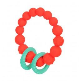 B.TOYS - Gryzak silikonowy - Czerwone kółko z pierścieniami - BX1619