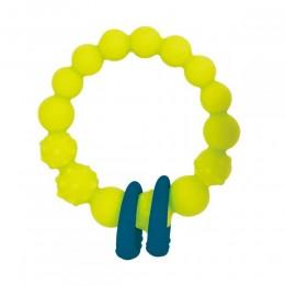 B.TOYS - Gryzak silikonowy - Limonkowe kółko z pierścieniami - BX1621