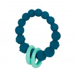 B.TOYS - Gryzak silikonowy - Granatowe kółko z pierścieniami - BX1623