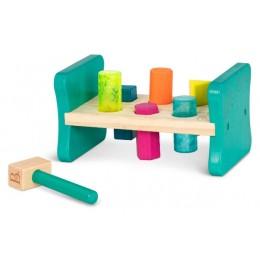 B.Toys – Drewniana przebijanka – Ławeczka z młotkiem BX1762