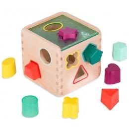 B.Toys – Wonder Cube - Drewniany sorter kształtów i kolorów BX1763