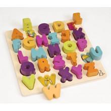 B.Toys - Puzzle drewniane - Literki alfabetu - BX1823