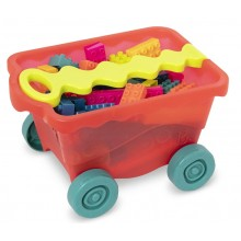 B.Toys – Wagonik z kolorowymi klockami BX1991