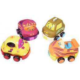B.Toys – Zestaw 4 miękkich autek BX1995