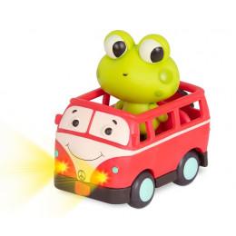 B.Toys - Miękkie autko sensoryczne z żabką Jax – światło + dźwięk – LB1700