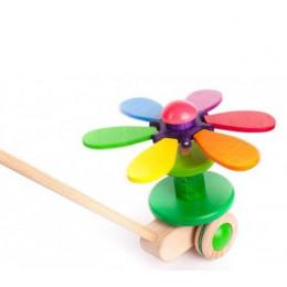 BAJO – Drewniany pchacz – Kwiatek na patyku 24510