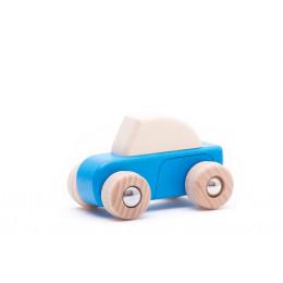 BAJO – Drewniane autko – niebieskie 49410