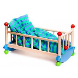 BAJO – Drewniana kołyska dla lalek 74810