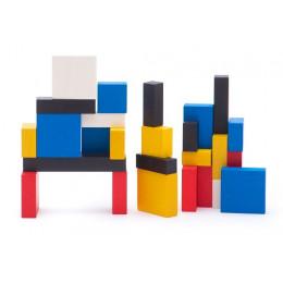 BAJO – Zestaw drewnianych klocków Mondrian 96el. 91020