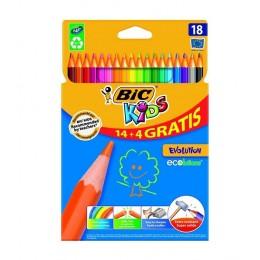 BIC – Kredki ołówkowe Kids Evolution – 18 kolorów – 0154