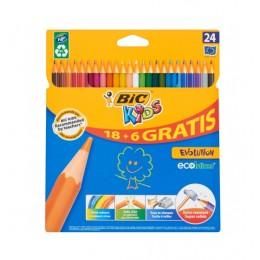 BIC – Kredki ołówkowe Kids Evolution – 24 kolory – 0161