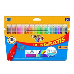 Bic Kids – Pisaki flamastry zmywalne – 24 kolory – 03240