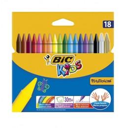 BIC – Kredki świecowe Kids Plastidecor – 18 kolorów – 0358