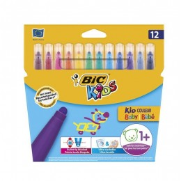 Bic Kids Baby – Flamastry zmywalne z grubszą końcówką 12mc+ - 12 kolorów – 07056