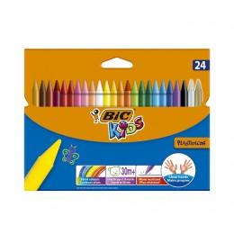 Bic Kids – Kredki świecowe Plastidecor – 24 kolory – 10722