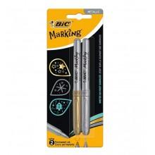BIC – Marker permanentny Marking – złoty i srebrny – 2259