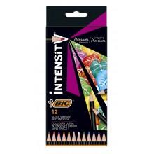 BIC – Kredki ołówkowe Intensity Premium – 12 kolorów – 51968
