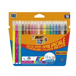 Bic Kids – Pisaki flamastry zmywalne – 18 kolorów – 56313