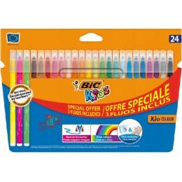 Bic Kids - Flamastry zmywalne 24 kolory - 6320