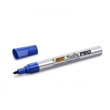 BIC – Marker permanentny do szkła drewna metalu – niebieski – 6410