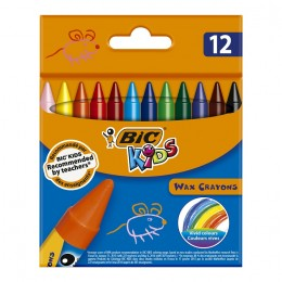 BIC – Kredki świecowe Kids Wax Crayons – 12 kolorów – 16834