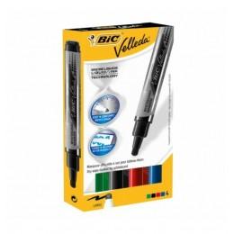 BIC – Pisak marker ścieralny zmazywalny – 4 kolory – 7247