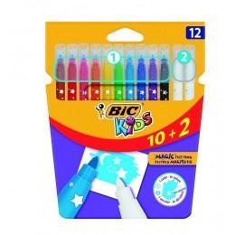 Bic Kids – Pisaki flamastry zmazywalne magiczne – 10 kolorów – 74085