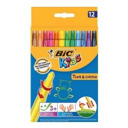 Bic Kids – Kredki świecowe wykręcane – 12 kolorów – 74092