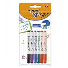 BIC – Pisak marker ścieralny zmazywalny dla dzieci – 6 kolorów – 07426