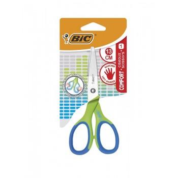 BIC – Nożyczki 13 cm z miękkim uchwytem – Zielone – 78674