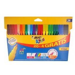 Bic Kids – Pisaki flamastry – 24 sztuki (18 kolorów) – 86047