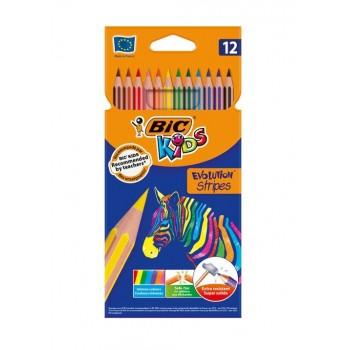 BIC – Kredki Kids Evolution Stripes – 12 kolorów – 99102