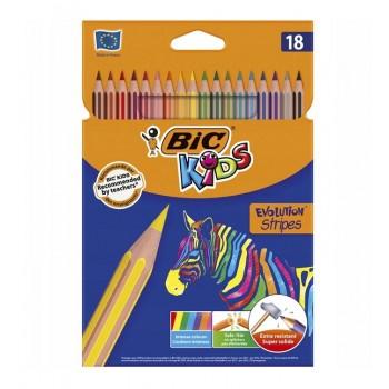 BIC – Kredki Kids Evolution Stripes – 18 kolorów – 99126