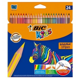 BIC – Kredki Kids Evolution Stripes – 24 kolory – 99133
