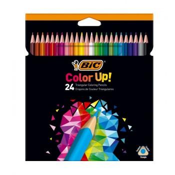 BIC – Trójkątne kredki ołówkowe Color Up! – 24 kolory – 99164