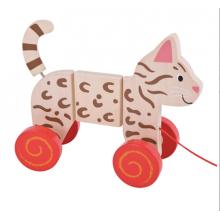 BIGJIGS BB111 Kot do Ciągnięcia na Sznurku