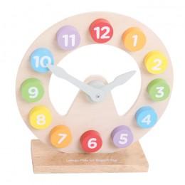 Bigjigs BJ301 Drewniany zegar do nauki czasu