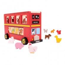 BIGJIGS BJ692 Sorter Czerwony Autobus
