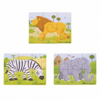 BigJIgs - Puzzle 3 obrazki - Safari BJ818