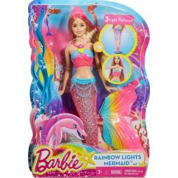Barbie DHC40 TĘCZOWA ŚWIECĄCA SYRENKA