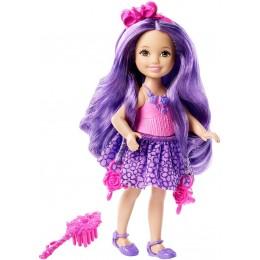 Barbie Długowłosa Chelsea DKB58 Lalka Fioletowa