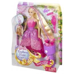 Barbie Lalka DKB62 Magiczne Warkocze Księżniczki