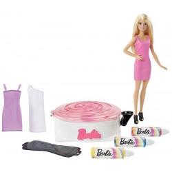 Barbie DMC10 Zestaw Zakręcone wzory z lalką Barbie