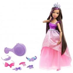 Barbie DPK21 Długowłosa duża lalka 43 cm - Brunetka