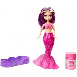Lalka Barbie DVM98 Bąbelkowa mała syrenka - Fioletowa